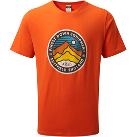 Rab Stance 3 Peaks T-shirt Heren, firecracker